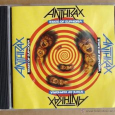 CDs de Música: ANTHRAX - STATE OF EUPHORIA (CD). Lote 46100249