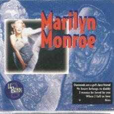 CDs de Música: CD MARILYN MONROE : LEGENS ( CONTIENE 20 CANCIONES ! ) . Lote 46105374