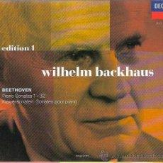 CDs de Música: BEETHOVEN - INTEGRAL DE LAS 32 SONATAS PARA PIANO - INTÉRPRETE: BACKHAUS - OCHO CDS EN UN ESTUCHE. Lote 46149603