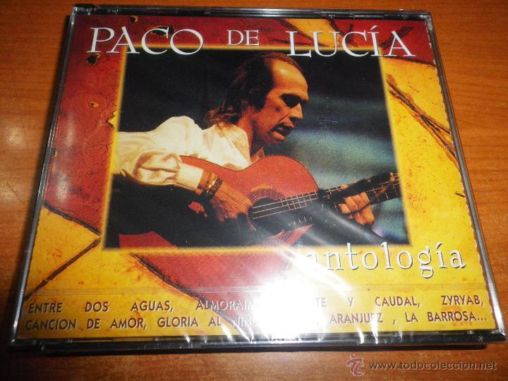 PACO DE LUCIA ANTOLOGIA 2 CD ALBUM PRECINTADO DEL AÑO 1995 CONTIENE 25 TEMAS ENTRE DOS AGUAS RARO (Música - CD's Flamenco, Canción española y Cuplé)