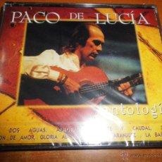CDs de Música: PACO DE LUCIA ANTOLOGIA 2 CD ALBUM PRECINTADO DEL AÑO 1995 CONTIENE 25 TEMAS ENTRE DOS AGUAS RARO. Lote 46223500