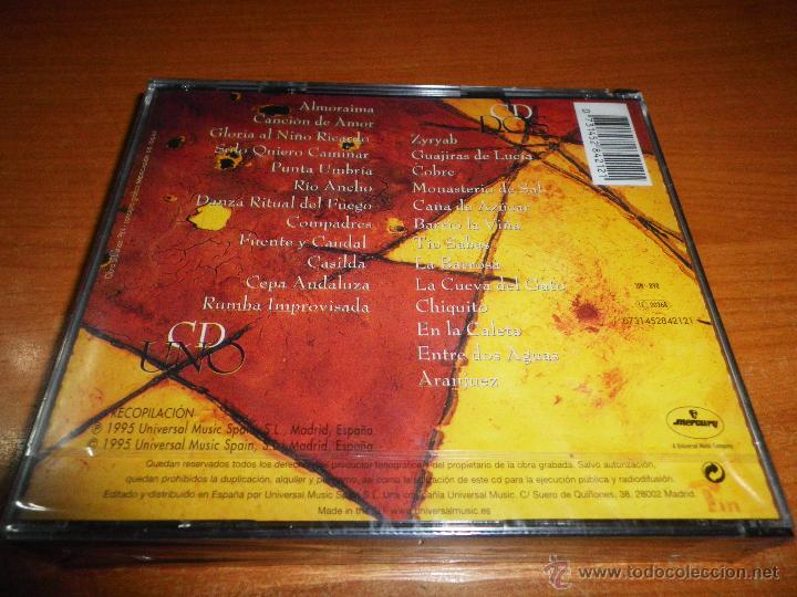 CDs de Música: PACO DE LUCIA Antologia 2 CD ALBUM PRECINTADO DEL AÑO 1995 CONTIENE 25 TEMAS ENTRE DOS AGUAS RARO - Foto 2 - 46223500