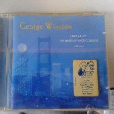 CDs de Música: CD GEORGE WINSTON LINUS & LUCY THE MUSIC OF VINCE GUARALDI SOLO PIANO 17 TEMAS. Lote 46233555