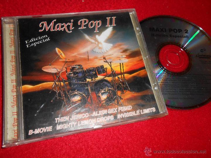 MAXI POP 2 II CD 1997 CONTRASEÑA THEN JERICO WOLFSHEIM RAW HERBS INVISIBLE LIMITS ALIEN SEX FIEND .. (Música - CD's Techno)