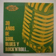 CDs de Música: 30 AÑOS DE SOUL, BLUES Y ROCK'N'ROLL… - CD (ESTUCHE EN FORMATO CARTONÉ). Lote 46360879