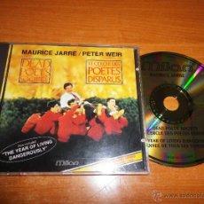 CDs de Música: DEAD POETS SOCIETY BANDA SONORA CD ORO MAURICE JARRE THE YEAR OF LIVING DANGEROUSLY RARO CD DORADO. Lote 46385203