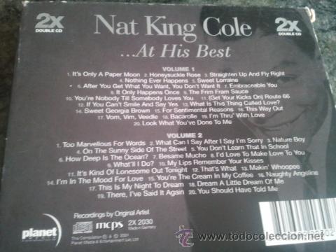 CDs de Música: NAT KING COLE AT HIS BEST - Foto 2 - 46451058