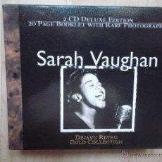CDs de Música: SARAH VAUGHAN DEJAVU RETRO COLLECTION 2 CDS DELUXE EDITION. Lote 46573298