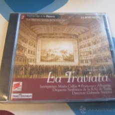 CDs de Música: LA TRAVIATA. GIUSEPPE VERDI. MARÍA CALLAS. PRECINTADO.. Lote 46591763