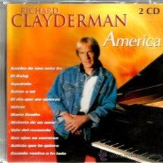 CDs de Música: DOBLE CD RICHARD CLAYDERMAN : AMERICA ( PIANO SAMBA, BOSSA NOVA, TANGO, BOLERO, MAMBO, ETC ). Lote 46611848