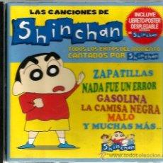 CDs de Música: CD LAS CANCIONES DE SHINCHAN ( EN ESPAÑOL ) INCLUYE MINI POSTER DESPLEGABLE . Lote 46661500