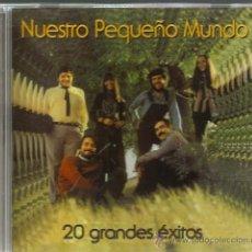 CDs de Música: CD NUESTRO PEQUEÑO MUNDO : 20 GRANDES EXITOS (CAMPANILLEROS, SI YO FUERA RICO, ME CASO MI MADRE, ETC. Lote 46776099