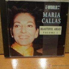 CDs de Música: MARIA CALLAS. BEAUTIFUL ARIAS. VOLUME 1. CD / TRACE TRADING - HOLLAND - 1992. 8 TEMAS. CALIDAD LUJO.. Lote 46929186