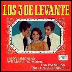CDs de Música: LOS 3 DE LEVANTE / LIMON LIMONERO + AVE MARIA NO MORRO + LAS PALMERAS + 1 - CD - CREVILLENT - TRES. Lote 78338314