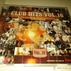 CDs de Música: CLUB HITS VOL.16 THE LEADING CLUB COLLECTION 2CD, ATB, PAUL VAN DYK, BOB MARLEY, BOB SINCLAR. Lote 46937898