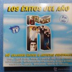 CDs de Música: AA - LOS ÉXITOS DEL AÑO Ñ 60 GRANDES ÉXITOS Y ARTISTAS ORIGINALES TRIPLE CD + 1 DVD AÑO 2005. Lote 74715658