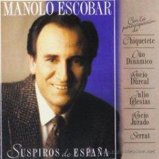 CDs de Música: MANOLO ESCOBAR-SUSPIROS DE ESPAÑA(DUOS CON ROCIO JURADO-ROCIO DURCAL-SERRAT-). Lote 31921405