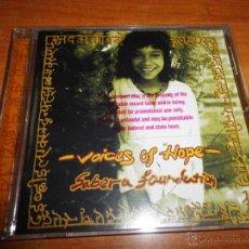CDs de Música: FUNDACION SABERA CD PROMOCIONAL NACHO CANO MECANO STING ALEJANDRO SANZ ELTON JOHN EDICION USA RARO. Lote 47025419