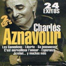 CDs de Música: CHARLES AZNAVOUR 24 ÉXITOS (PRECINTADO). Lote 47036083