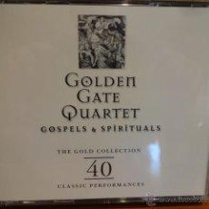 CDs de Música: GOLDEN GATE QUARTET. GOSPELS & SPIRITUALS. SET DOBLE CD / RETRO - 1998. 40 TEMAS. CALIDAD LUJO.. Lote 171678858