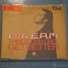 CDs de Música: CD PROMOCIONAL,DE MÚSICA DE,D:REAM:THINGS CAN ONLY GET BETTER,NºB132. Lote 47084439