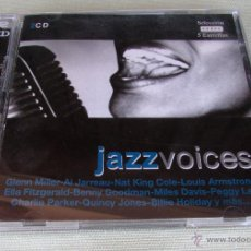 CDs de Música: JAZZ VOICES. 2 CD´S. G.MILLER,ANDREW SISTERS,N.KING COLE, C. PARKER, B. HOLLIDAY, E.FITZGERALD,..... Lote 47108283