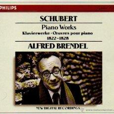 CDs de Música: SCHUBERT - PIANO WORKS 1822-1828. ALFRED BRENDEL. CAJA CON 7 CD´S EN MUY BUEN ESTADO. . Lote 47252497