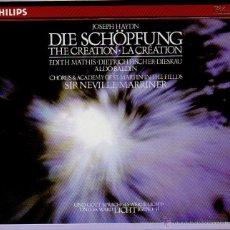 CDs de Música: JOSEPH HAYDN DIE SCHOPFUNG. EN PERFECTO ESTADO. 2 CD´S MAS LIBRETO EN ESTUCHE.. Lote 47259741