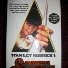 CDs de Música: VHS CLOCKWORK ORANGE – NARANJA MECÁNICA – STANLEY KUBRICK – EDICIÓN ESPECIAL – VERSION ORIGINAL. Lote 47327461