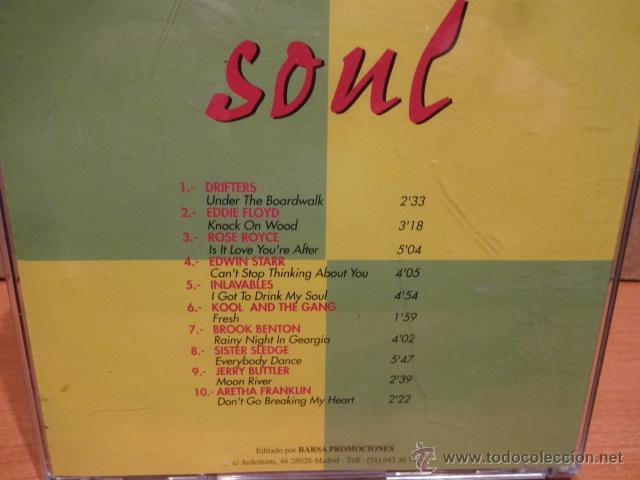 CDs de Música: SOUL. VARIOS ARTISTAS. CD / BARSA PROMOCIONES - 1996. 10 TEMAS. CALIDAD LUJO. - Foto 2 - 47330885