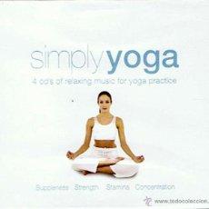 CDs de Música: CD SIMPLY YOGA PACK 4 CD´S (PRECINTADO). Lote 47358835