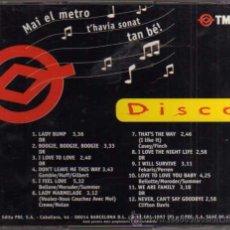 CDs de Música: CD - MAI EL METRO T'HAVIA SONAT TAN BÉ - TMB. Lote 47617214