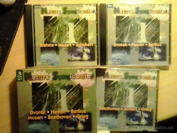 NATURE SYMPHONIES-ESTUCHE CON 3 CDS, CON 25 GRANDES OBRAS CLÁSICAS (Música - CD's New age)