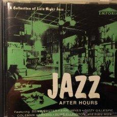 CDs de Música: JAZZ AFTER HOURS- FEATAURING BEN WEBSTER, EARL HINES,DIZZY GILLESPIE,COLEMAN HAWKINS, DUKE ELLIGNTON. Lote 47726911