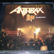 CDs de Música: ANTHRAX - LIVE - THE ISLAND YEARS. Lote 47787228