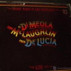 CDs de Música - FRIDAY NIGHT IN SAN FRANCISCO. AL DI MEOLA. JOHN MC LAUGHLIN. PACO DE LUCIA. CD EDICION EXTRANJERA - 47814088