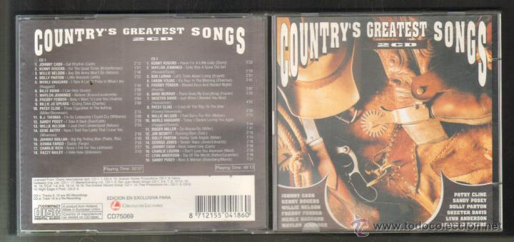 COUNTRY´S GREATEST SONGS. 2 CD´S. CD-DOBLE-260 (Música - CD's Country y Folk)