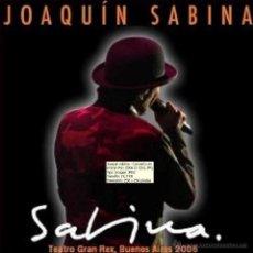 CDs de Música: JOAQUIN SABINA EN CONCIERTO - TEATRO GRAN REX, BUENOS AIRES, ARGENTINA 2006 (2 CD). Lote 200306940