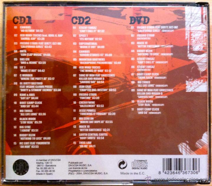 CDs de Música: AMERICAN HIP HOP MASTER - JEDI MIND TRICKS,ONYX,CANIBUS,BLACK MOON,STICKY FINGAZ... 2 CD'S + 1 DVD - Foto 2 - 47904756