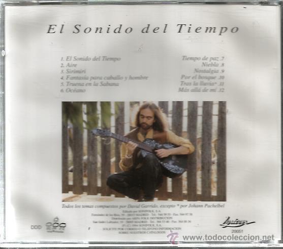CDs de Música: CD DAVID GARRIDO : EL SONIDO DEL TIEMPO - Foto 2 - 47945362