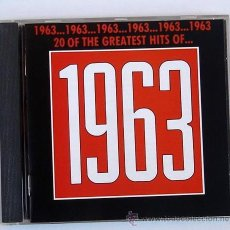 CDs de Música: 20 OF THE GREATEST HITS OF 1963- (CD ) BILLY FURY - THE HOLLIES - BEACH BOYS - THE DAKOTAS ..... Lote 47984539