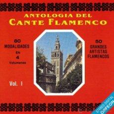 CDs de Música: VARIOS - ANTOLOGIA DEL CANTE FLAMENCO, VOL. I - CD. Lote 47995325