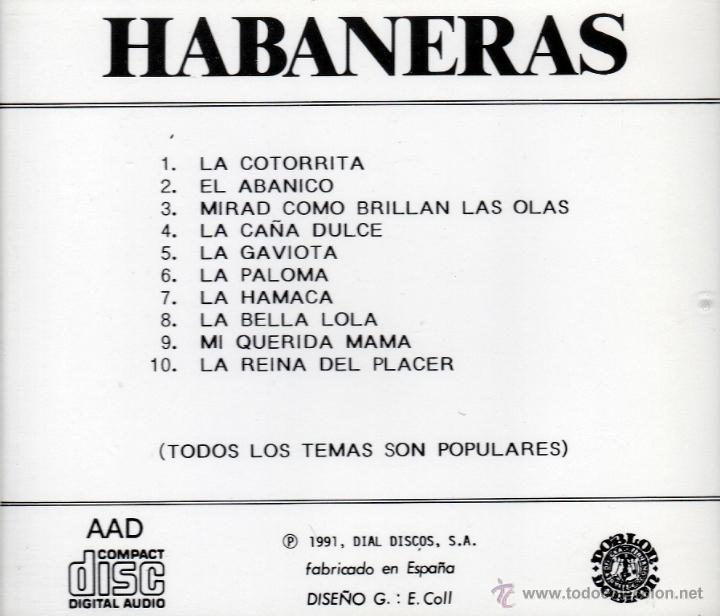 CDs de Música: VARIOS - HABANERAS - CD - Foto 2 - 47995485