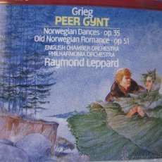CDs de Música: GRIEG PEER GYNT ENGLISH CHAMBER ORCHESTRA RAYMOND LEPPARD. PHILIPS. 1976 (DETALLE EN FOTOGRAFÍA). Lote 48014503