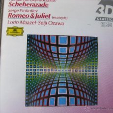 CDs de Música: RIMSKY-KORSAKOV SCHEHERAZADE PROKOPIEV ROMEO & JULIET. LORIN MAAZEL. SEIJI OZAWA. (DETALLE EN FOTOS). Lote 48015128
