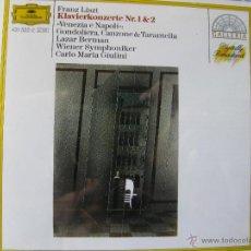 CDs de Música: FRANZ LISZT KLAVIERKONZERTE NR 1 & 2. WIENER SYMPHONIKER. CARLO MARIA GIULINI. (DETALLE EN FOTOS). Lote 48015355