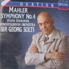 CDs de Música: MAHLER SYMPHONY Nº 4 SYLVIA STAHLMAN ADRM- DECCA 417 745-2 ORCH SIR GEORG SOLTI (DETALLE EN FOTOS). Lote 48015731