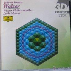 CDs de Música: JOHANN STRAUSS WALZER WIENER PHILHARMONIKER. LORIN MAAZEL. DDD. (DETALLE EN FOTOGRAFIAS). Lote 48018680