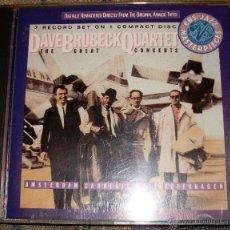 CDs de Música: DAVE BRUBECK QUARTET THE GREAT CONCERTS. Lote 48038125