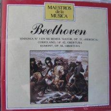 CDs de Música: MAESTROS DE LA MUSICA BEETHOVEN SINFONIA Nº3 EN MI BEMOL MAYOR OP 55 HEROICA (MÁS DETALLES EN FOTOS). Lote 48190073